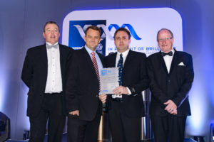 Above: David Nienaber, General Works Manager of Anderson Engineering (second from right), is presented with the RUNNER UP award for Export Achievement. He is pictured with John Tarboton, Executive Director of SASSDA (far right), Charles Cammell, Chairman of SASSDA (far left) and Arno van Niekerk from SASFIN (second left).