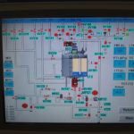 View of the Human Machine Interface (HMI) showing one of the process control pages on the 1000 l processing vessel. This system also comprises a Supervisor's Control and Data Acquisition (SCADA) which captures and stores data